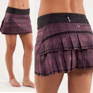 Lululemon Pace Setter Skirt Wee Space Purple Skort